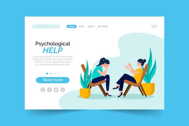 Психологическая помощь - лендинг Бесплатные векторы