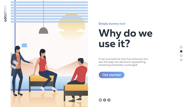 Psychologist consulting couple Free Vector