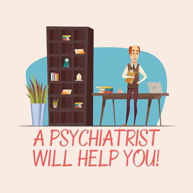 Psychologist flat illustration Free Vector