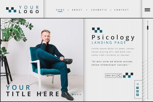 Modello di pagina di destinazione per psicologia Vettore gratuito