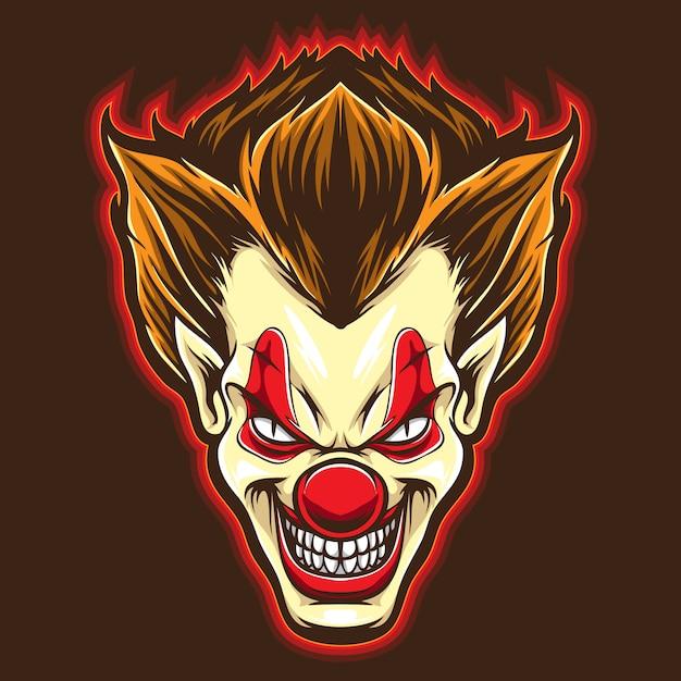 Psyco clown vector Premium Vector
