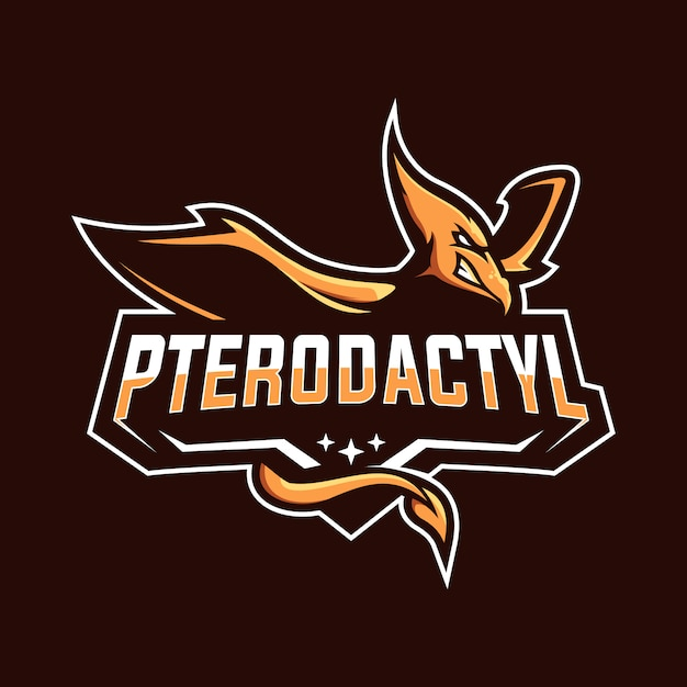 Pterodactyl esport mascot logo Premium Vector