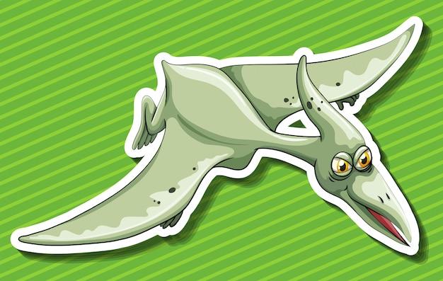 Pterosaur flying on green Free Vector