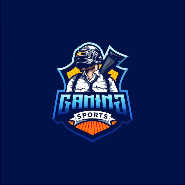 Pubg Gaming Logo Design Vector Premium Download