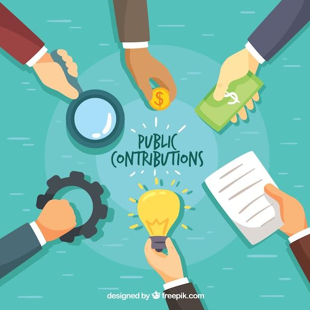Public contribution concept Free Vector