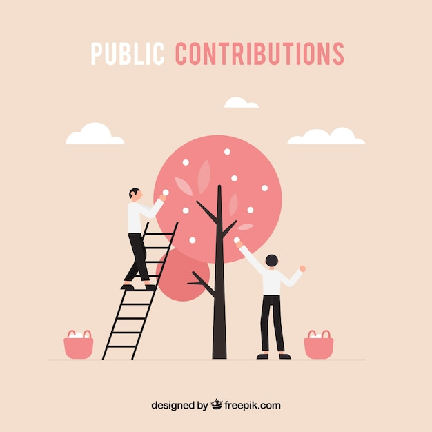 Public contributions concept Free Vector