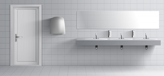 Public lavatory room interior Free Vector