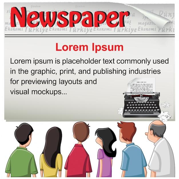 Public - газетный шаблон новостей Premium векторы