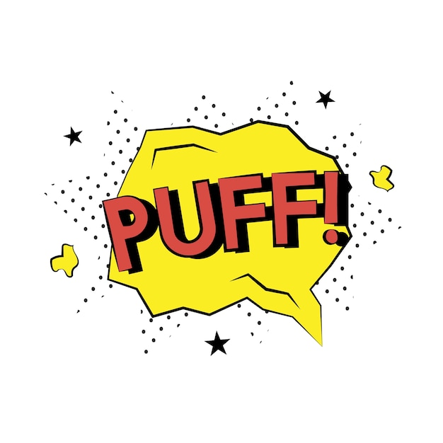 Puff comic style Free Vector