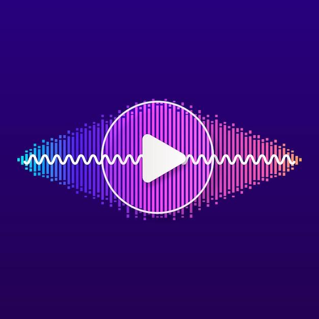 Pulse music player Premium Vector
