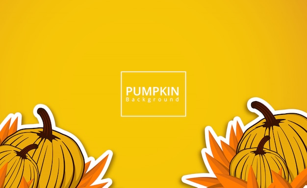 Pumpkin background Premium Vector