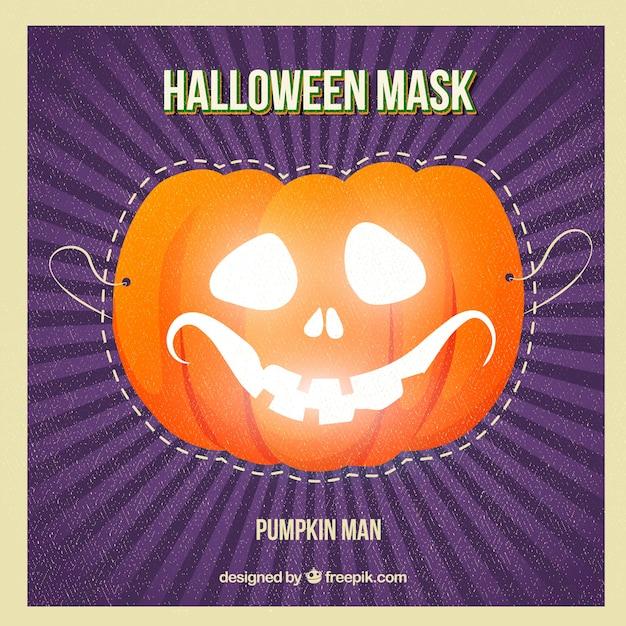 pumpkin halloween mask free vector