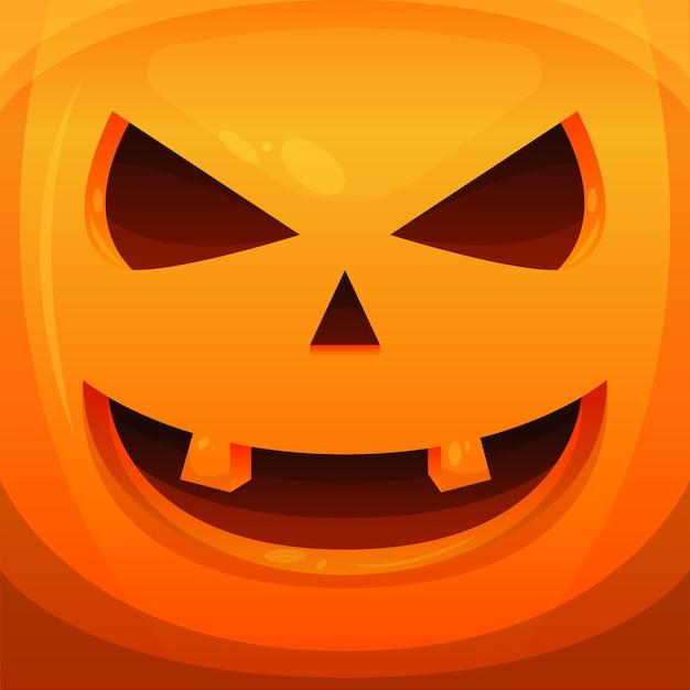 Pumpkin haloween scary vector illustration background banner Premium Vector