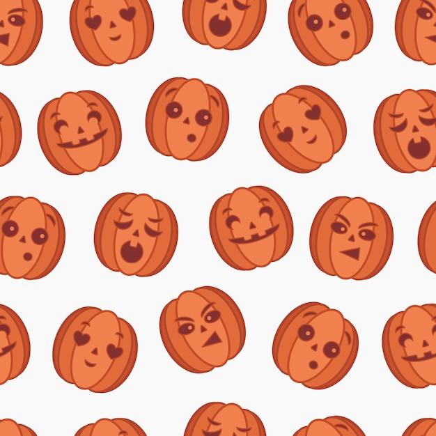 Pumpkin seamless pattern Premium Vector