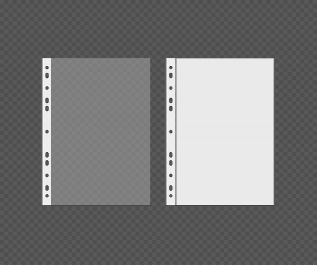 Punched pocket vector with white blank Premium Vector