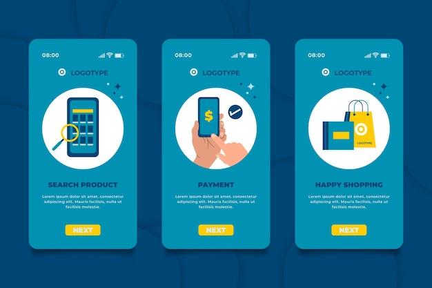 Acquista l'interfaccia dell'app online Vettore gratuito