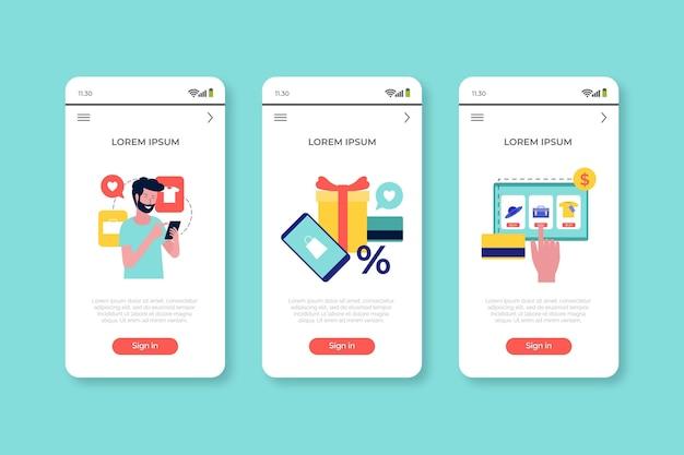 Acquista l'app concept online Vettore gratuito