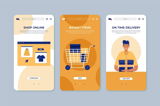 Purchase online interface concept Free Vector