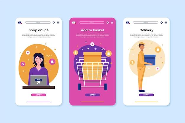オンラインインターフェイスの概念を購入する 無料ベクター