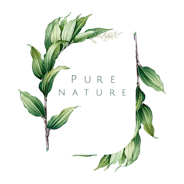 Pure nature logo design vector Free Vector