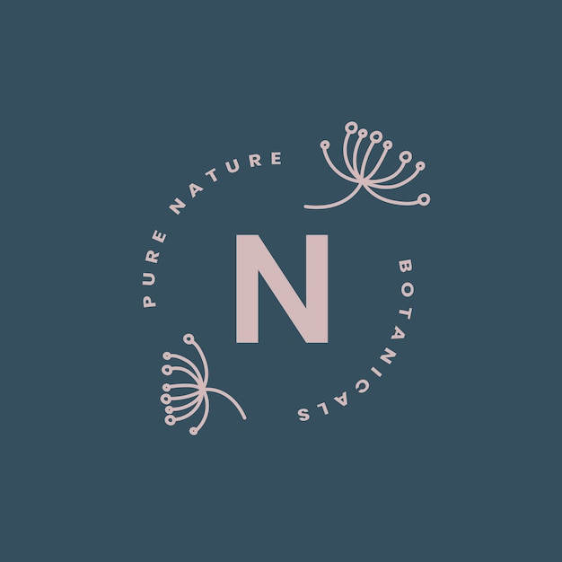 Pure nature logo design vector Free Vector