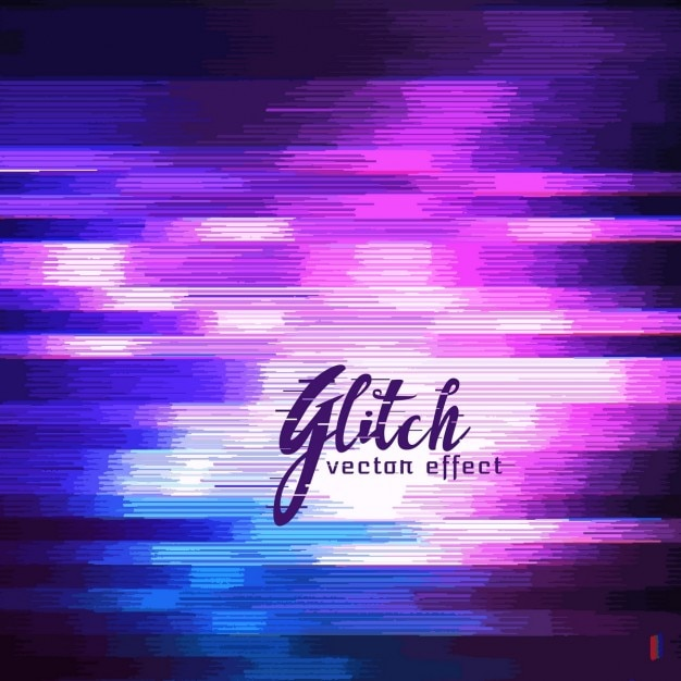 Purple abstract background, glitch effect Free Vector