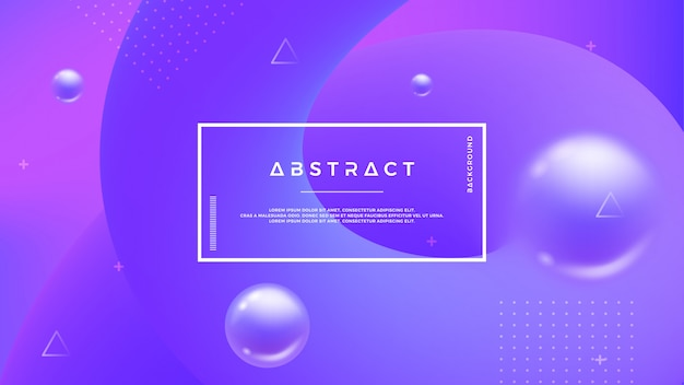 Purple abstract background with a dynamic liquid shape. Premium Vector