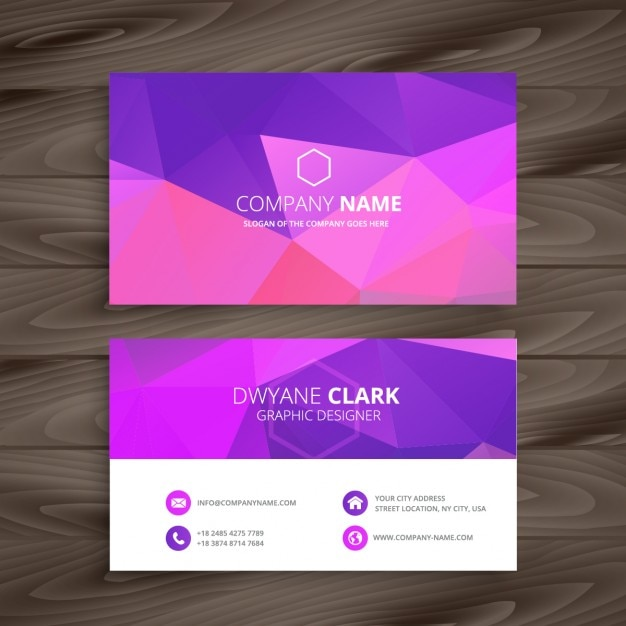 Purple abstract business card vector free download for Purple business cards