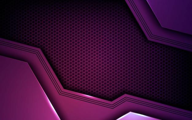 Purple abstract dimension background Premium Vector