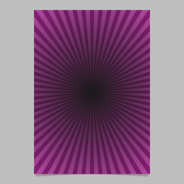 Purple abstract sun burst brochure template - gradient vector page background design with radial lines Premium Vector