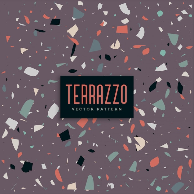 Purple abstract terazzo background Free Vector
