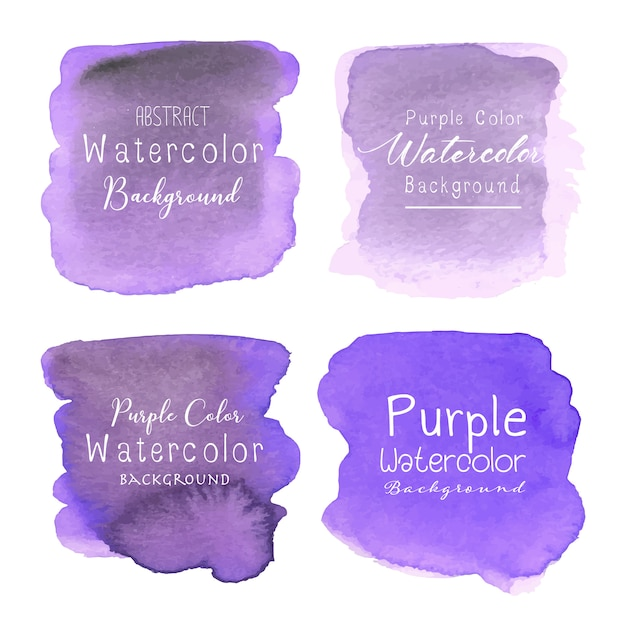 Purple abstract watercolor background Premium Vector
