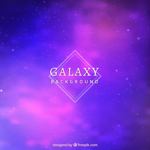 Purple and blue galaxy background