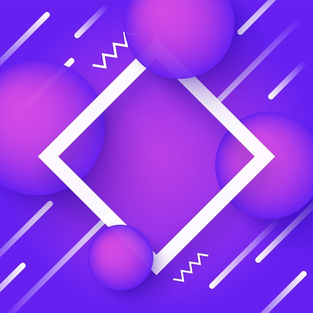 purple and white abstract geometric background. vector | premium