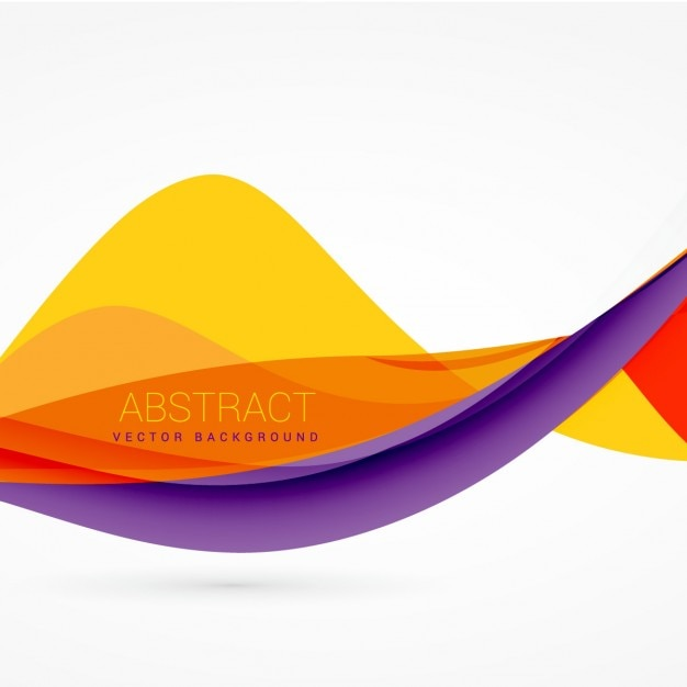 Purple And Yellow Color Wave Background Design Vector
