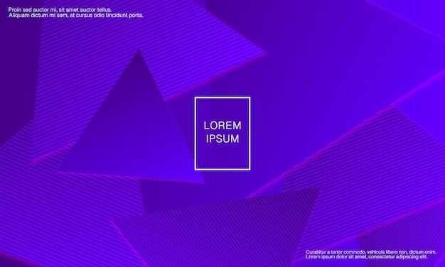 紫の背景。抽象カバー。三角形の幾何学的な背景。 Premiumベクター