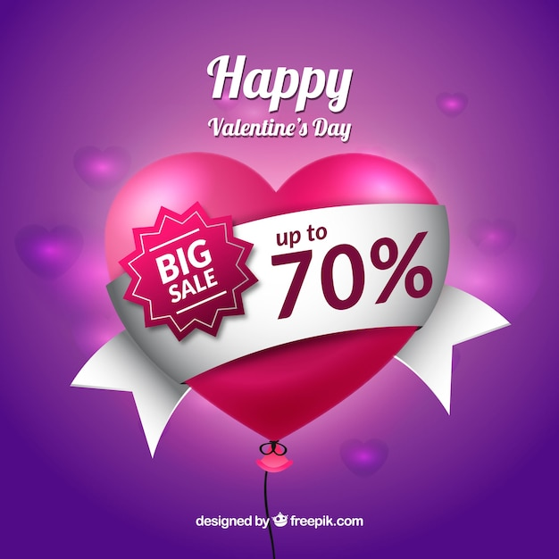 Purple background for valentines day sale Vector | Free Download