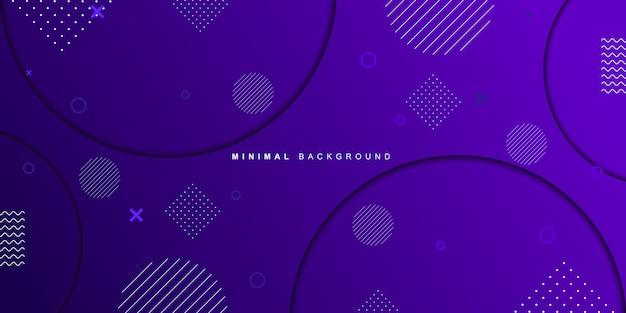 Фиолетовый фон современной яркой геометрической формы Premium векторы