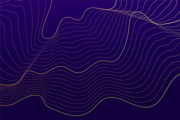 Purple background with abstract flowing lines Free Vector