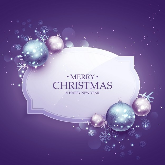 Christmas Purple.Purple Background With Christmas Balls Vector Free Download