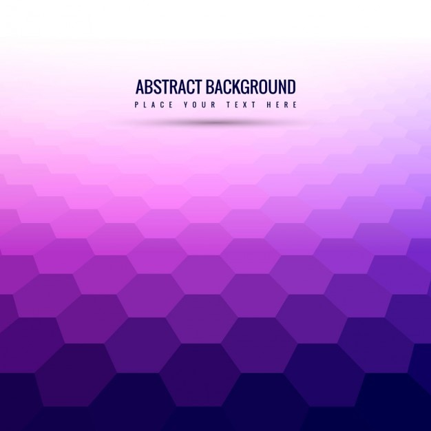 Purple Background With Hexagons Vector Free Download