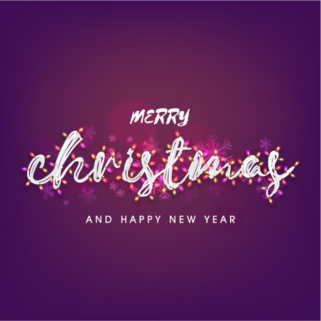 Purple background with lights for christmas Premium Vector
