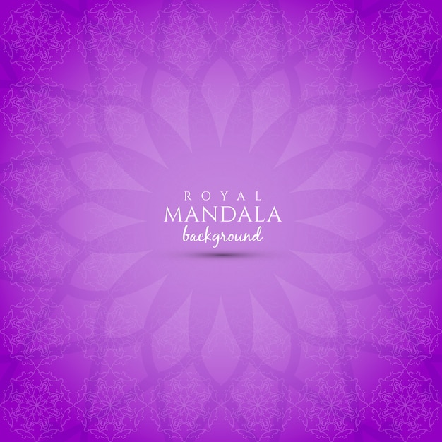 Purple background with mandala design vector free download purple background with mandala design free vector voltagebd Image collections