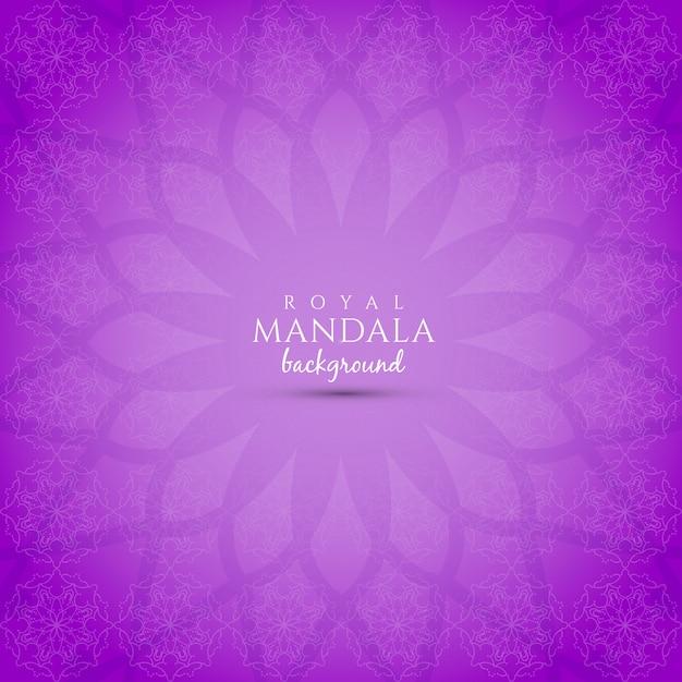 Purple background with mandala design Free Vector