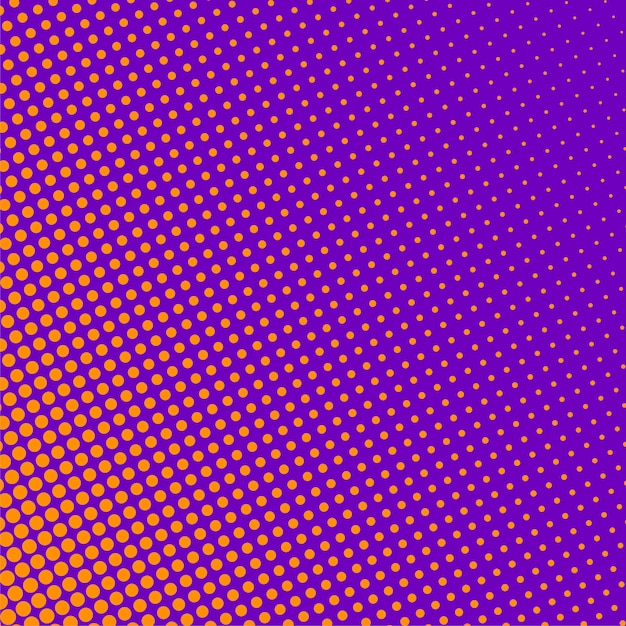 Purple background with orange halftone pattern Free Vector