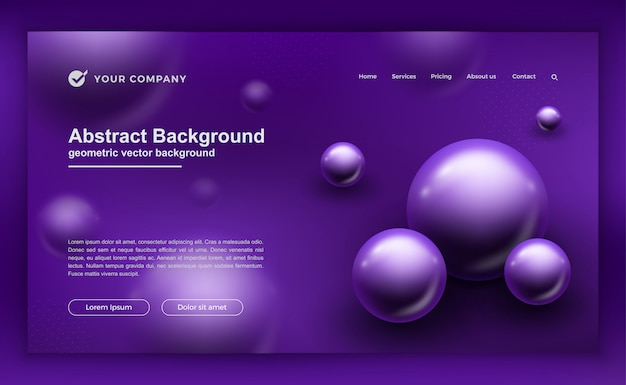 Purple background for your website designs. Premium Vector