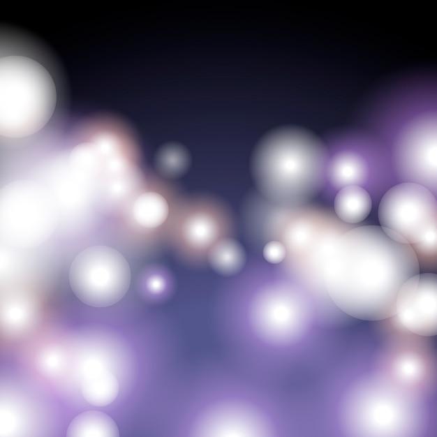 Purple bokeh background Free Vector