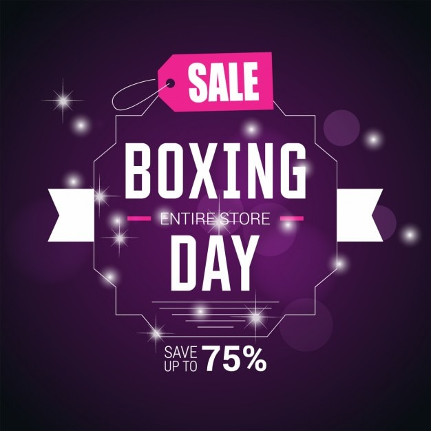 Purple boxing day background
