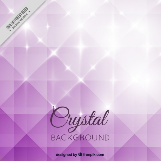 Purple bright crystal background Free Vector
