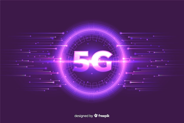 Purple bubble with high-speed boost lines Free Vector